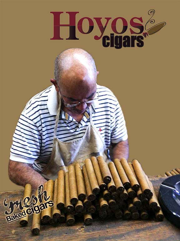 fresh baked cigars